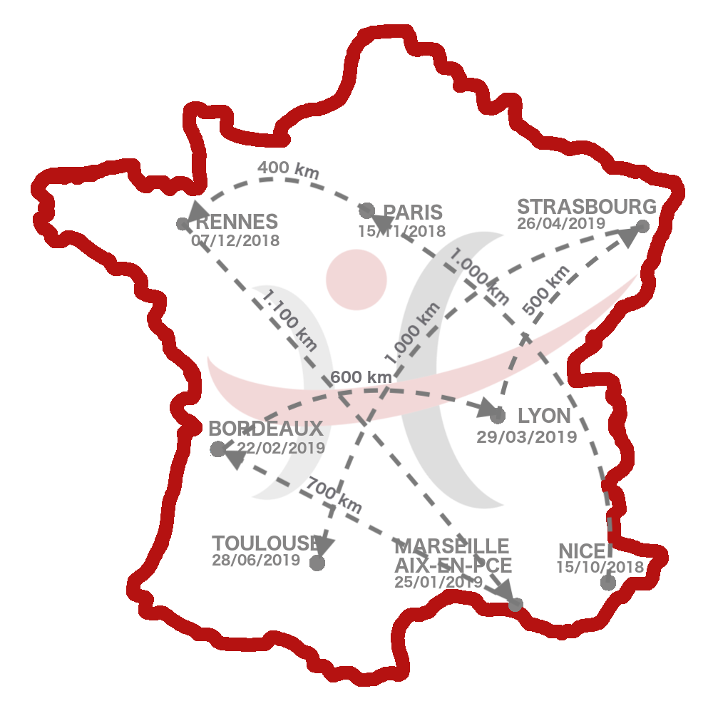Carte de France rencontres Humacitia