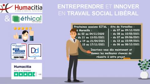 La formation de création d'entreprise by Humacitia plébiscitée par les travailleurs sociaux.